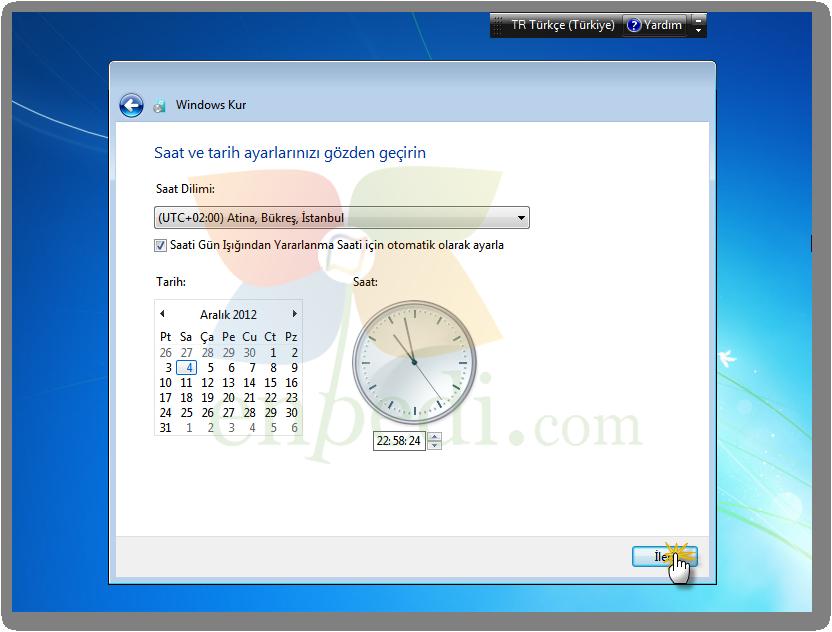 windows 7 format atma resimli anlatım