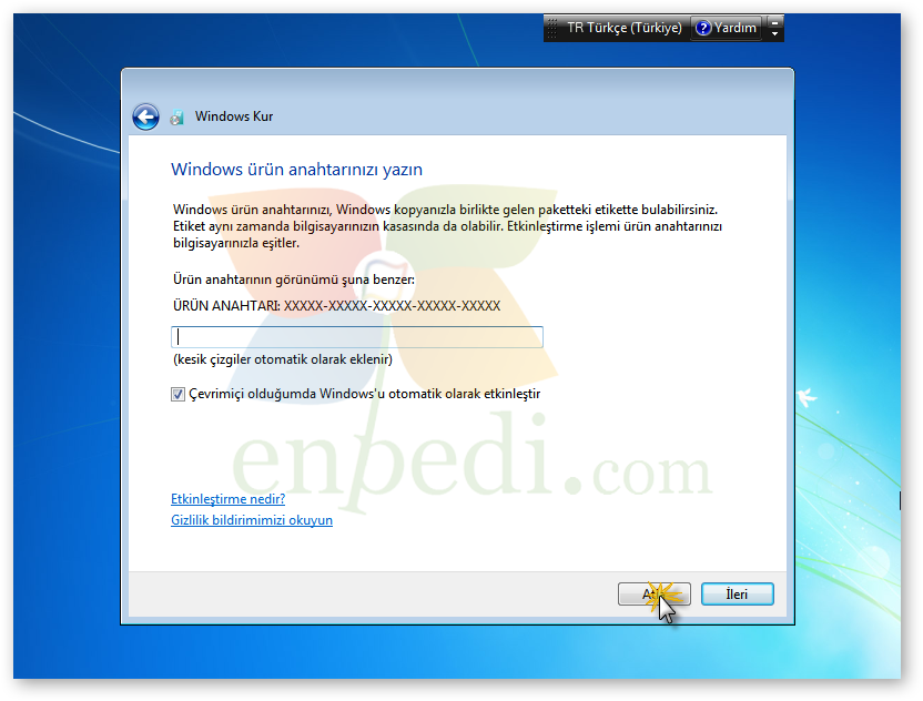 windows 7 sıfırlama