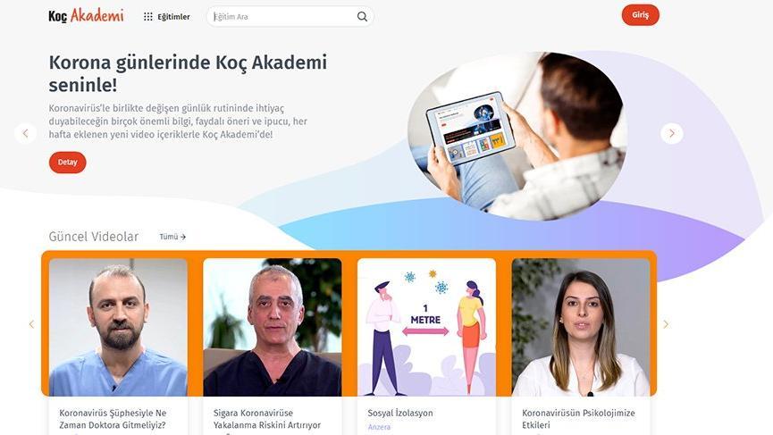 koç akademi online eğitim platformu